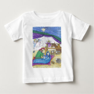 Nativity  Christmas Baby T-Shirt
