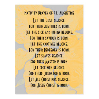 Nativity Prayer of St. Augustine Postcard