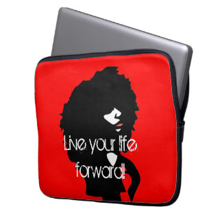 Natural afro chick illustration laptop sleeve