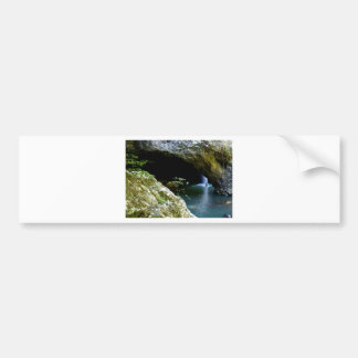 Natural Arch waterfall Bumper Sticker