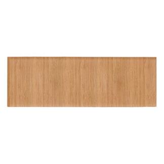 Natural Bamboo Wood Grain Look Name Tag
