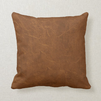 Natural Brown Leather look Cushion