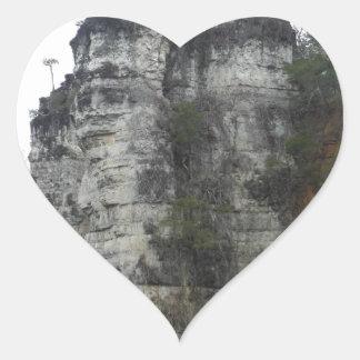 Natural Chimneys Heart Sticker