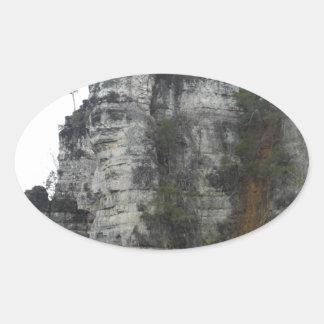 Natural Chimneys Oval Sticker