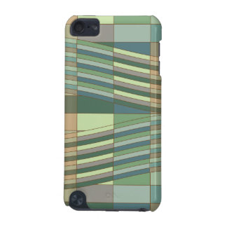 Natural Colors Wavy Rectangles iPod Touch 5G Cover