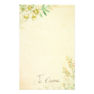 Natural Floral Stationary Paper Personalized Stationery