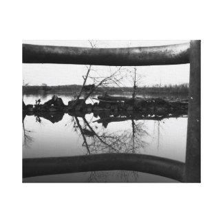 Natural Frame B&W Canvas Print