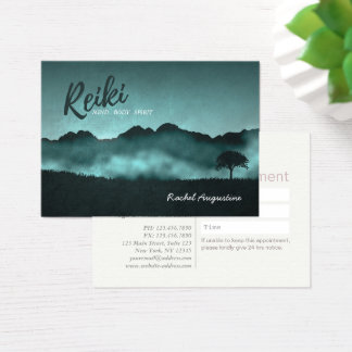 Natural Reiki Master & Yoga Instructor Appointment Business Card