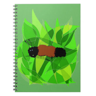 Nature Art wtih Woolly Bear on Photo Notebook