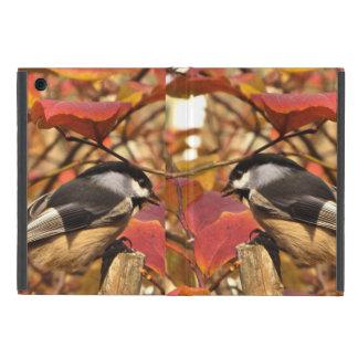 Nature Autumn Foliage with Chickadee Birds iPad Mini Case