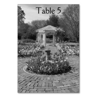 Nature design white gazebo table numbers table card