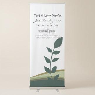 NATURE  Green Leaf Branch Landscaping Gardening Retractable Banner