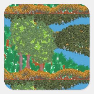 Nature Landscape Square Sticker