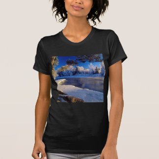 Nature River Ice Flow T Shirts