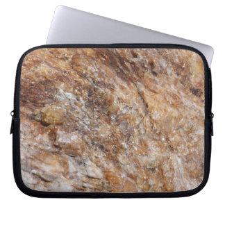 Nature Rose Quartz Rock Texture Laptop Sleeve