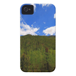 Nature Sky Blue Tree Hills iPhone 4 Case