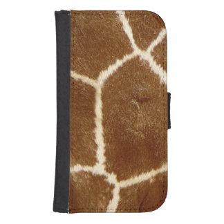 Nature Textured Photo Giraffe Animal Print Pattern Samsung S4 Wallet Case