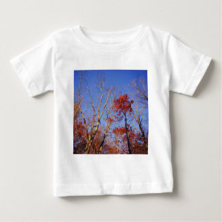 Nature Trees Autumn Burgundy Leaves Baby T-Shirt