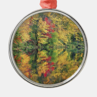 Nature Trees Autumn Colorful Lake Reflection Christmas Ornament