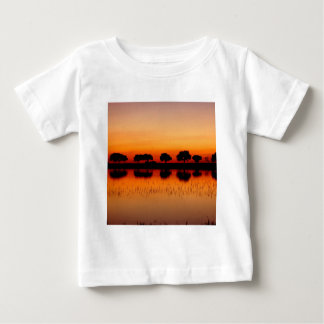 Nature Trees Red Row Reflected Baby T-Shirt