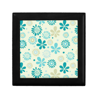 Nature Turquoise Abstract Sunshine Floral Pattern Gift Box