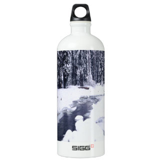 Nature Winter Snowy River Water Bottle