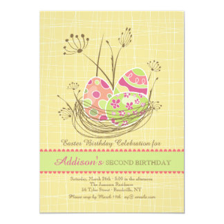Nature's Nest Easter Birthday Party Invitation