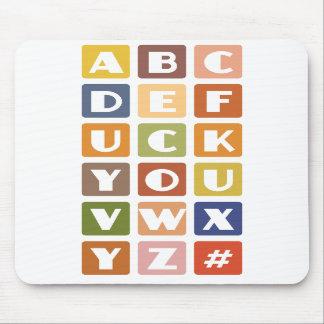 Naughty Alphabets mousepad