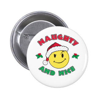 Naughty and Nice - Happy Face 6 Cm Round Badge
