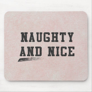 Naughty and Nice Mouse Pad