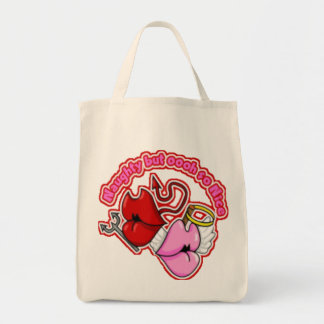 Naughty But Oh So Nice - Organic Grocery Tote Bags