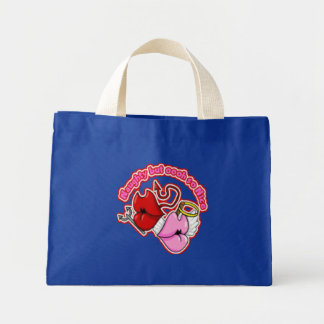 Naughty But Oh So Nice - Tiny Tote Tote Bags