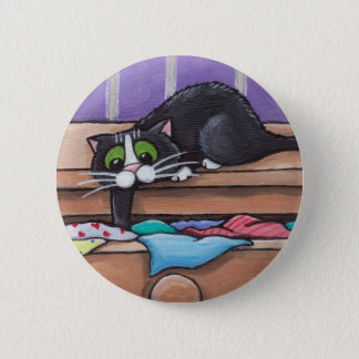 Naughty Cat Button