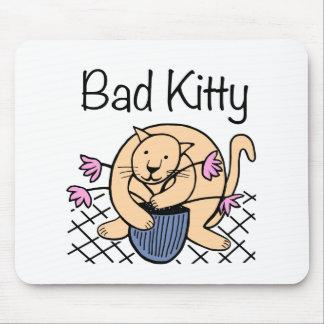 Naughty Cat Cartoon Mouse Pad
