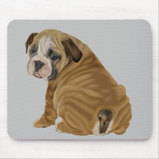 Naughty English Bulldog Puppy Mouse Pad