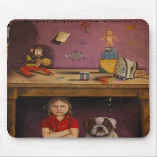 Naughty Kid, Naughty Child By Leah Saulnier on ... Mousepad