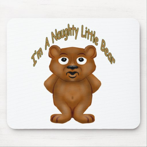 Naughty Little Bear Mouse Pad