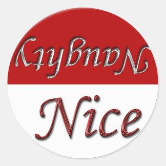 Naughty Nice List Holiday Christmas Design Sticker