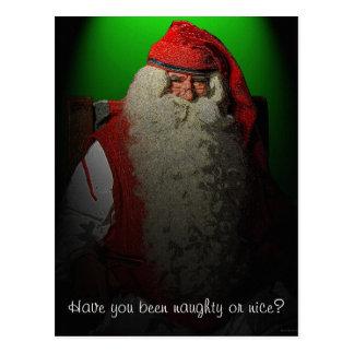 Naughty or Nice Santa Postcard