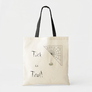 Naughty Spider Trick or Treat Tote Bag