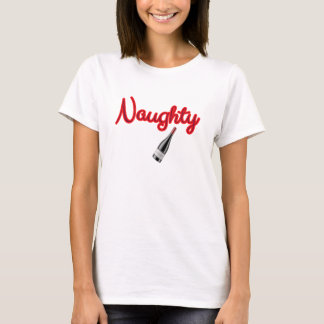 Naughty with Wine Bottle T-Shirt