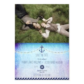 /nautic theme 13 cm x 18 cm invitation card