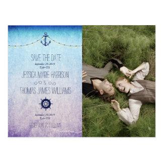 /nautic theme postcard