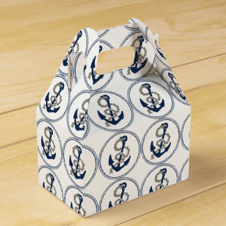 Nautical Anchor And Rope Sailing Themed Party Favor Box