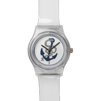 Nautical Anchor And Rope Sailing Themed Wrist Watch
