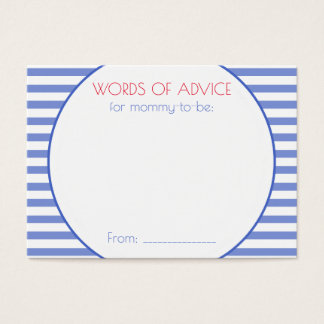 Nautical Anchor | Baby Shower Mommy Advice Cards
