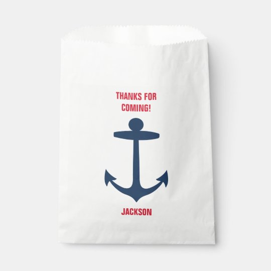 Nautical Anchor Birthday Party Goodie Bags Boy Favour Bags