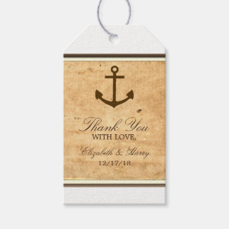 Nautical Anchor Framed Vintage Paper Wedding Gift Tags