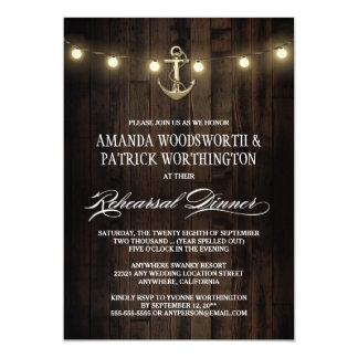 Nautical Anchor Rehearsal Dinner Invitations