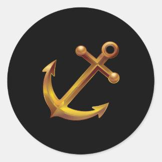 Nautical Anchor Round Sticker